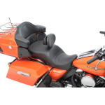 FORWARD-POSITIONING LARGE TOURING SEATS THAT ACCEPT FRAME MOUNTED BACKRESTS