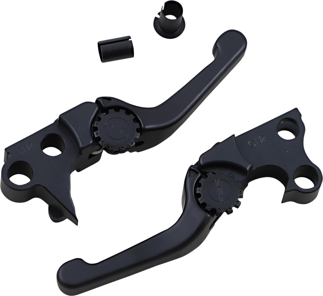 Powerstands Racing Shorty Adjustable Hand Levers 96-17 Harley Softail Touring