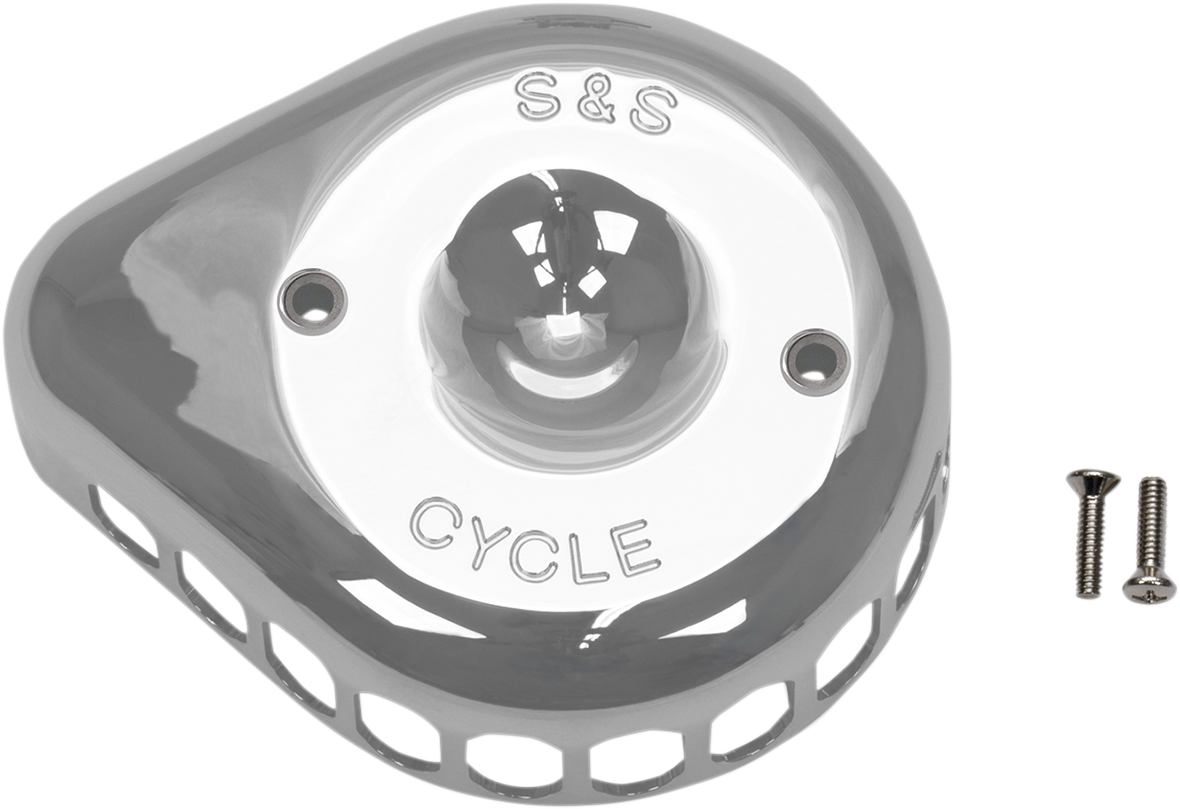 S&S Chrome Stealth Mini Tear Drop Air Cleaner Cover for Harley Davidson