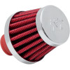 RUBBER AND CHROME BASE CRANKCASE VENT FILTERS