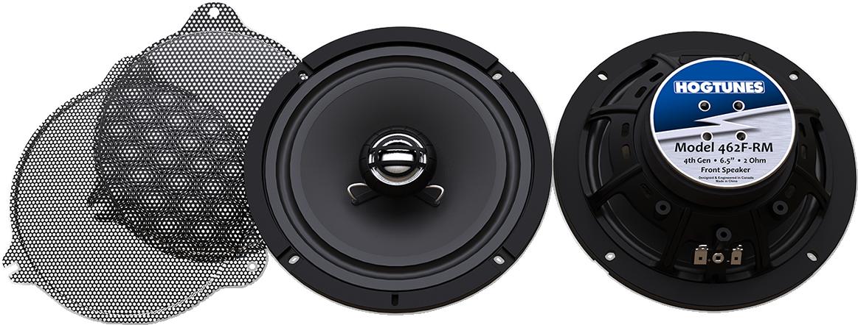 "Hogtunes Gen 4 Front Fairing 6.5"" Speaker & Grills for 14-20 Harley Touring FLHX"