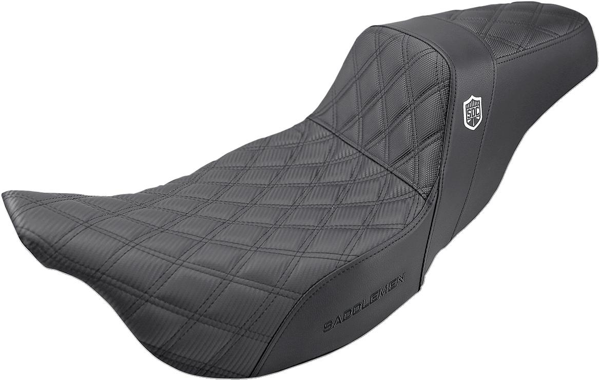 Saddlemen Black Gel SDC Performance Gripper Seat for 08-20 Harley Touring FLHX