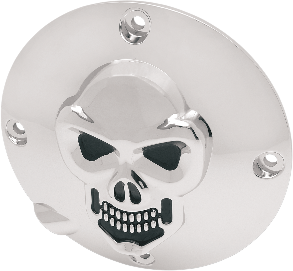 Drag Specialties 3-D Chrome Skull Derby Cover for 1994-2003 Harley Sportster