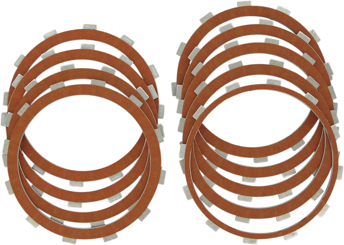 Drag Specialties Organic Friction Plate Kit for 99-17 Harley Dyna Touring FXST