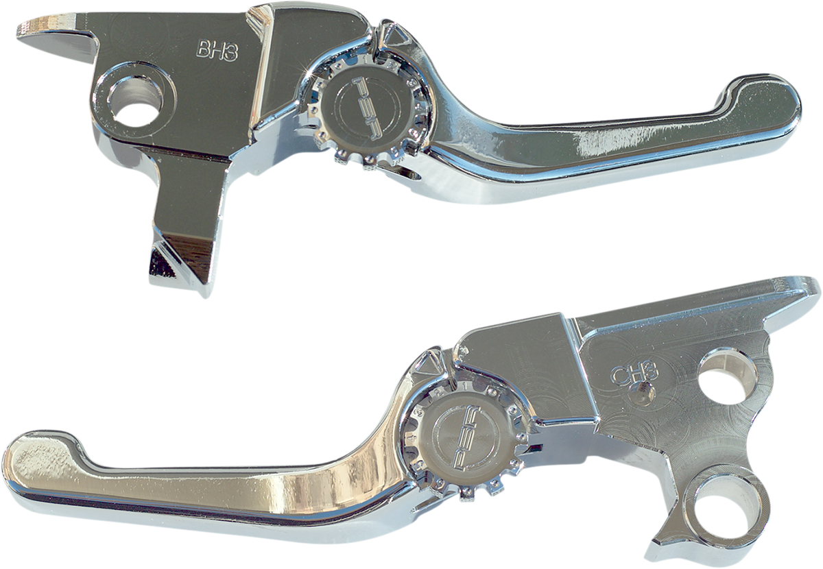 Powerstands Racing Chrome Shorty Adjustable Hand Levers 08-16 Touring FLHX FLHR