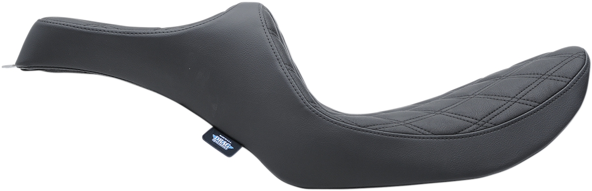 Drag Specialties Black Diamond Vinyl Predator Seat for 82-00 Harley Dyna FXR