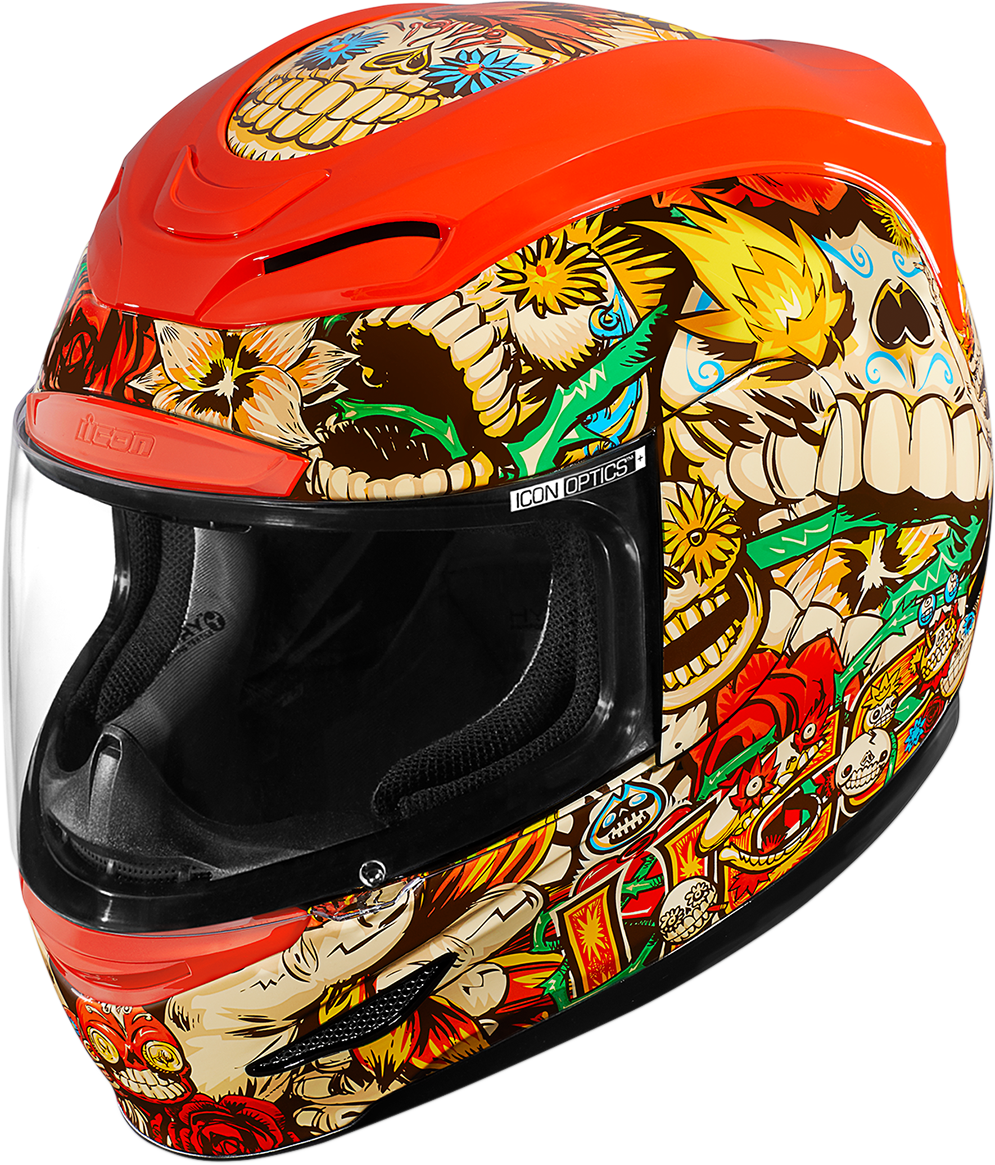 Icon Airmada Los Muertos Full Face Unisex Motorcycle Riding Street Racing Helmet