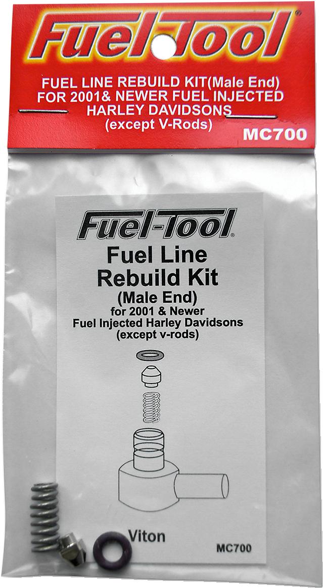 Fuel Tool Fuel Line Rebuild Kit for 01-18 Harley Touring Softail Sportster V-rod