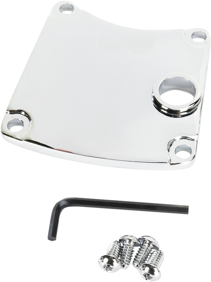 Drag Specialties Chrome 5-Hole Smooth Inspection Cover for 85-94 Harley FXR