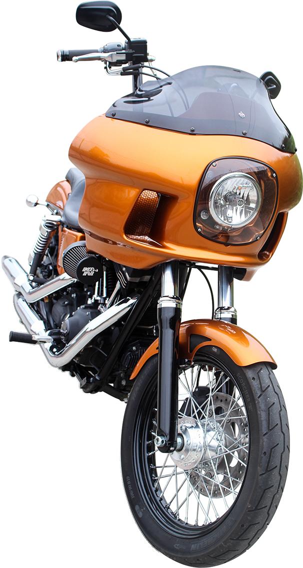 "Klock Werks Dark Smoke 9"" Motorcycle Flare Fairing Windshield 83-93 Harley FXRP"