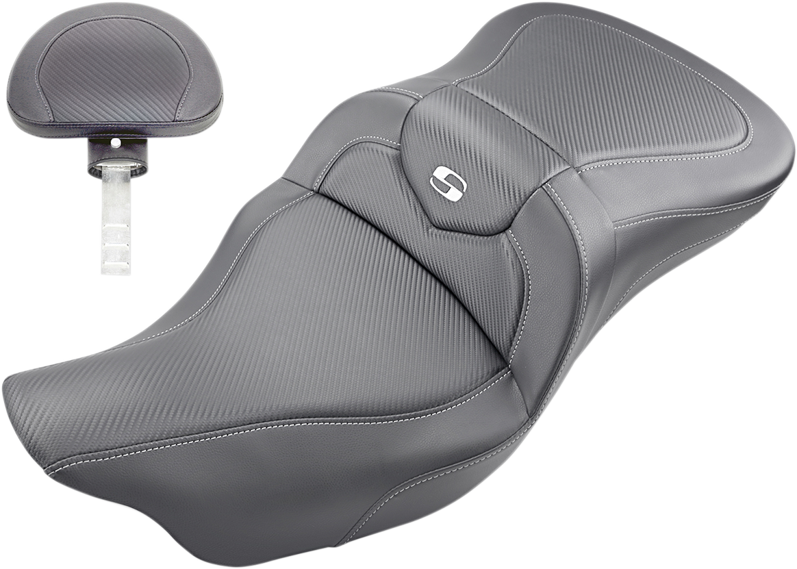 Saddlemen Black Road Sofa 2-Up Seat & Backrest 08-19 Harley Touring FLHX FLHR