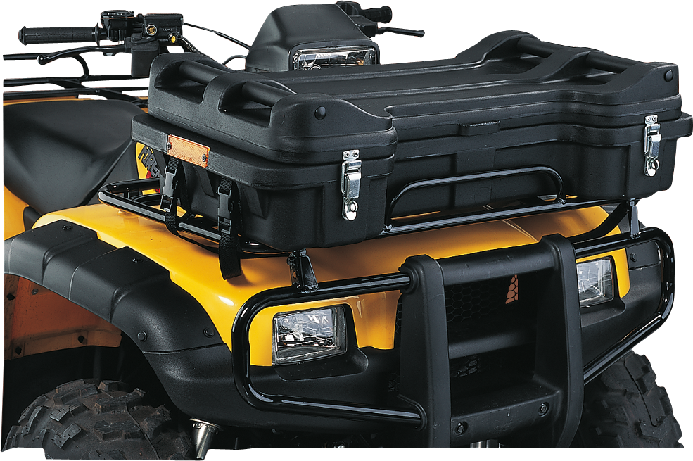 Moose Black Prospector Front ATV Lockable Latch Cargo Luggage Rack Storage Box