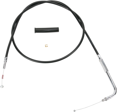 """Drag Specialties Black Vinyl 58"""" Motorcycle Idle Cable 96-19 Harley Dyna Softail"""