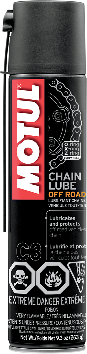 Motul 9.3oz Universal Off-road Dirt Bike Spray on Chain lube Honda KTM Yamaha
