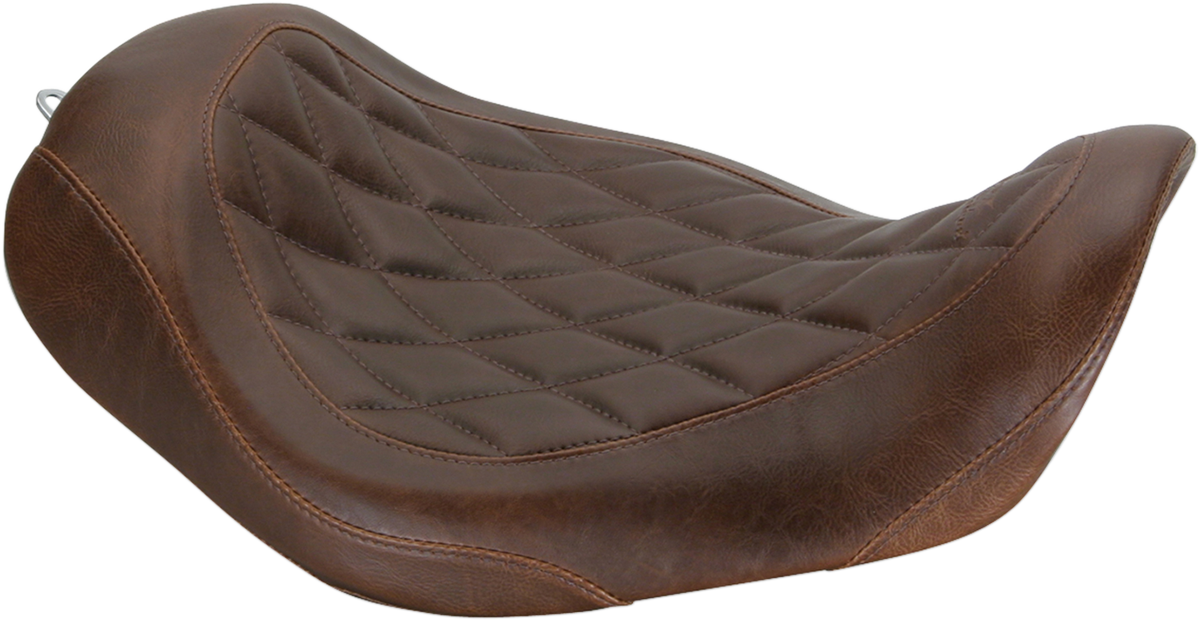 Mustang Tripper Brown Diamond Motorcycle Solo Seat 06-17 Harley Dyna FXDF FXDB