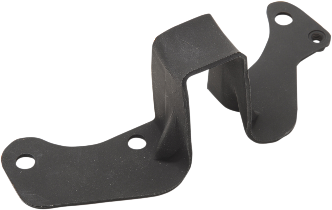 Drag Specialties Matte Black Rear Exhaust Pipe Bracket for 99-06 Harley Touring
