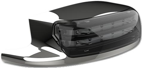 Custom Dynamics Chrome Smoke Lens Rear Fender Tip Light for 09-19 Harley Touring