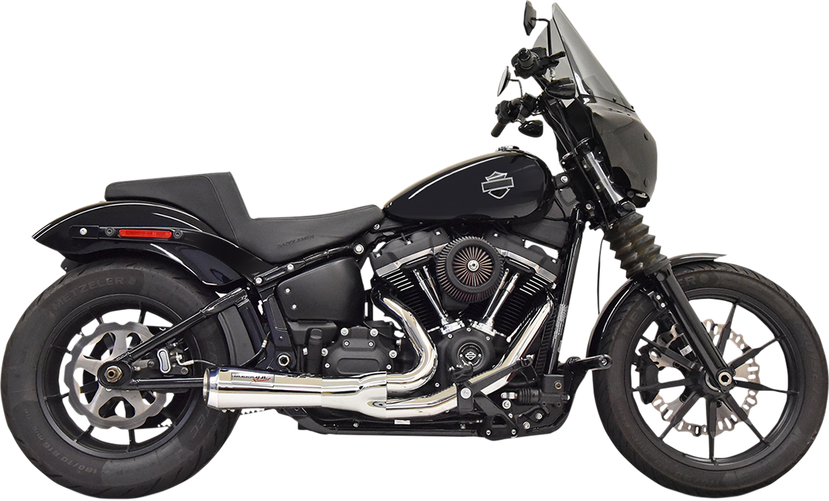 Bassani Ripper Road Rage 2-1 Chrome Motorcycle Exhaust 18-20 Harley Softail FXST
