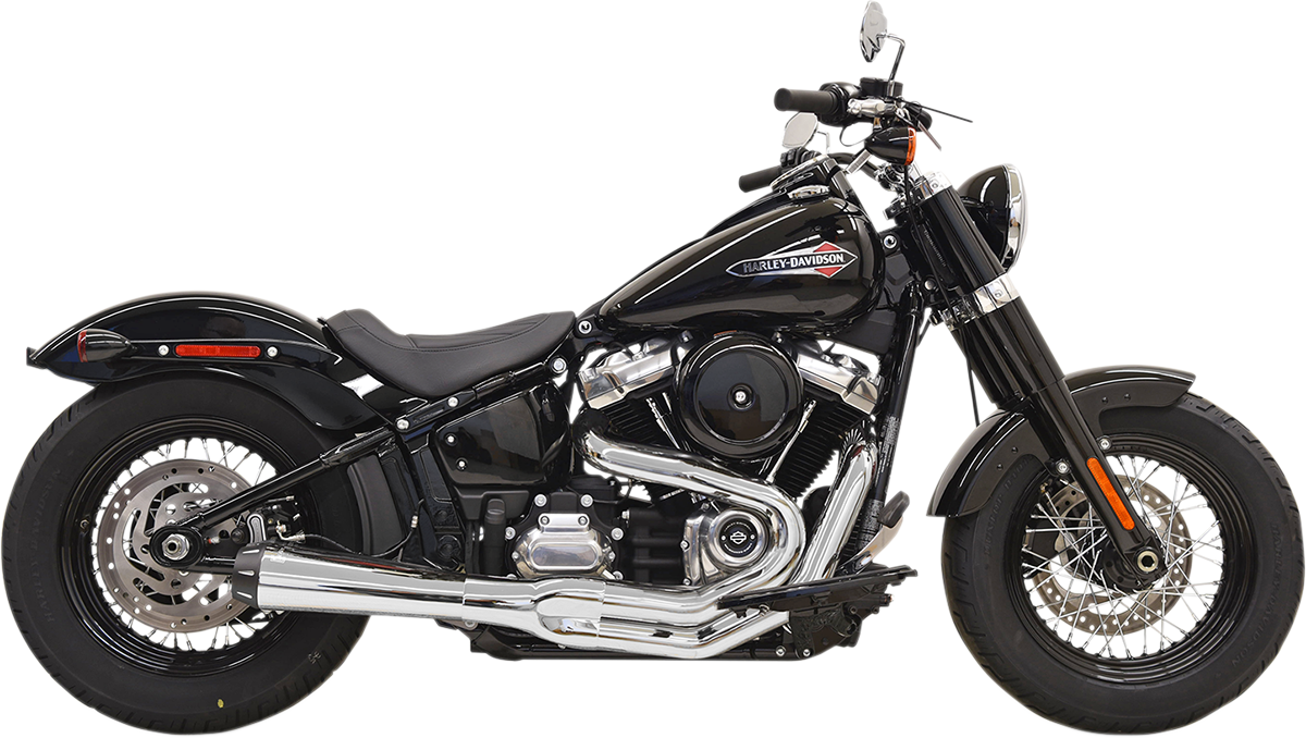 Bassani Xhaust Chrome Road Rage 3 Megaphone Exhaust System for 2018 Harley FXFB