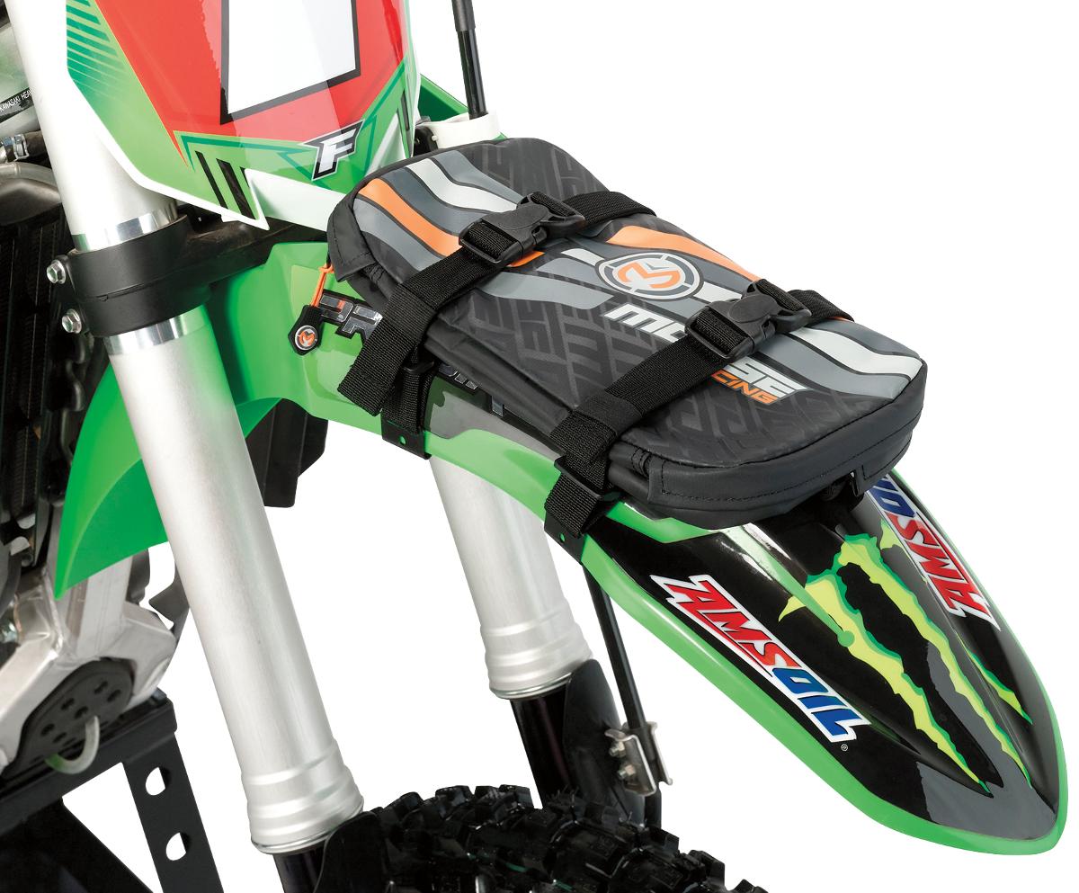 Moose Racing Black Zipper Front Rear Universal Offroad Riding Dirt Bike Tool Bag