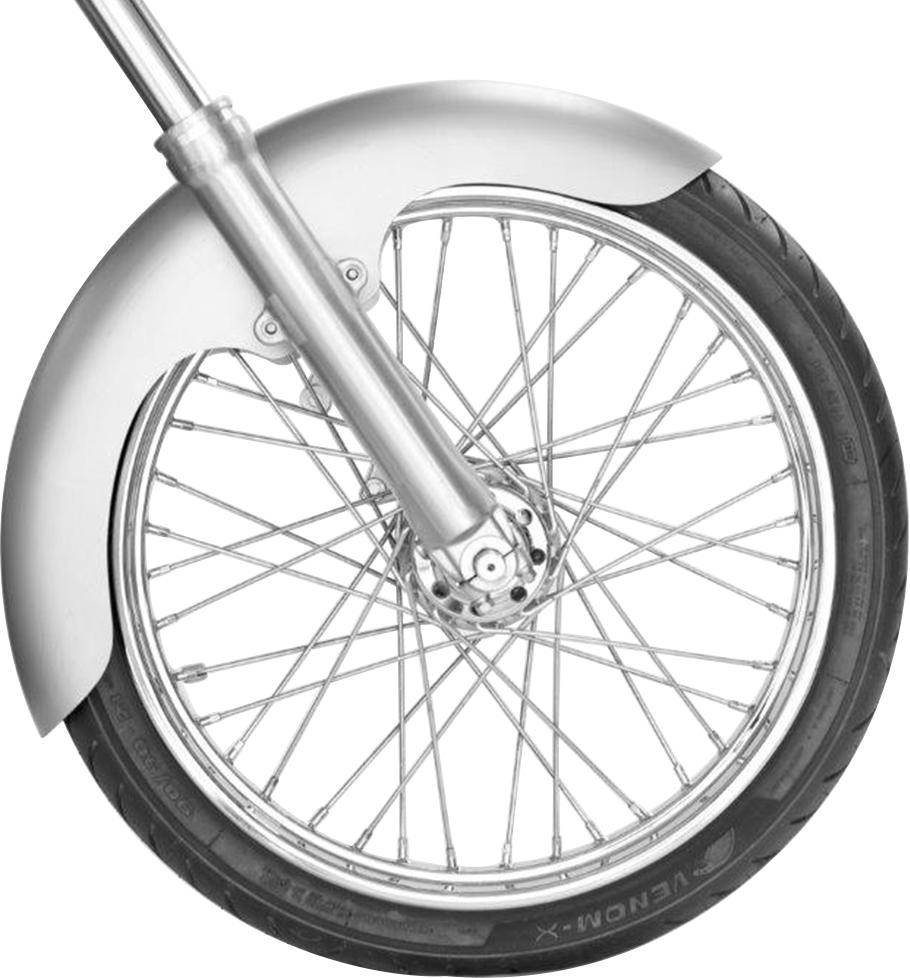 """Russ Wernimont Design Universal Custom Steel Motorcycle 21"""" Rambler Front Fender"""