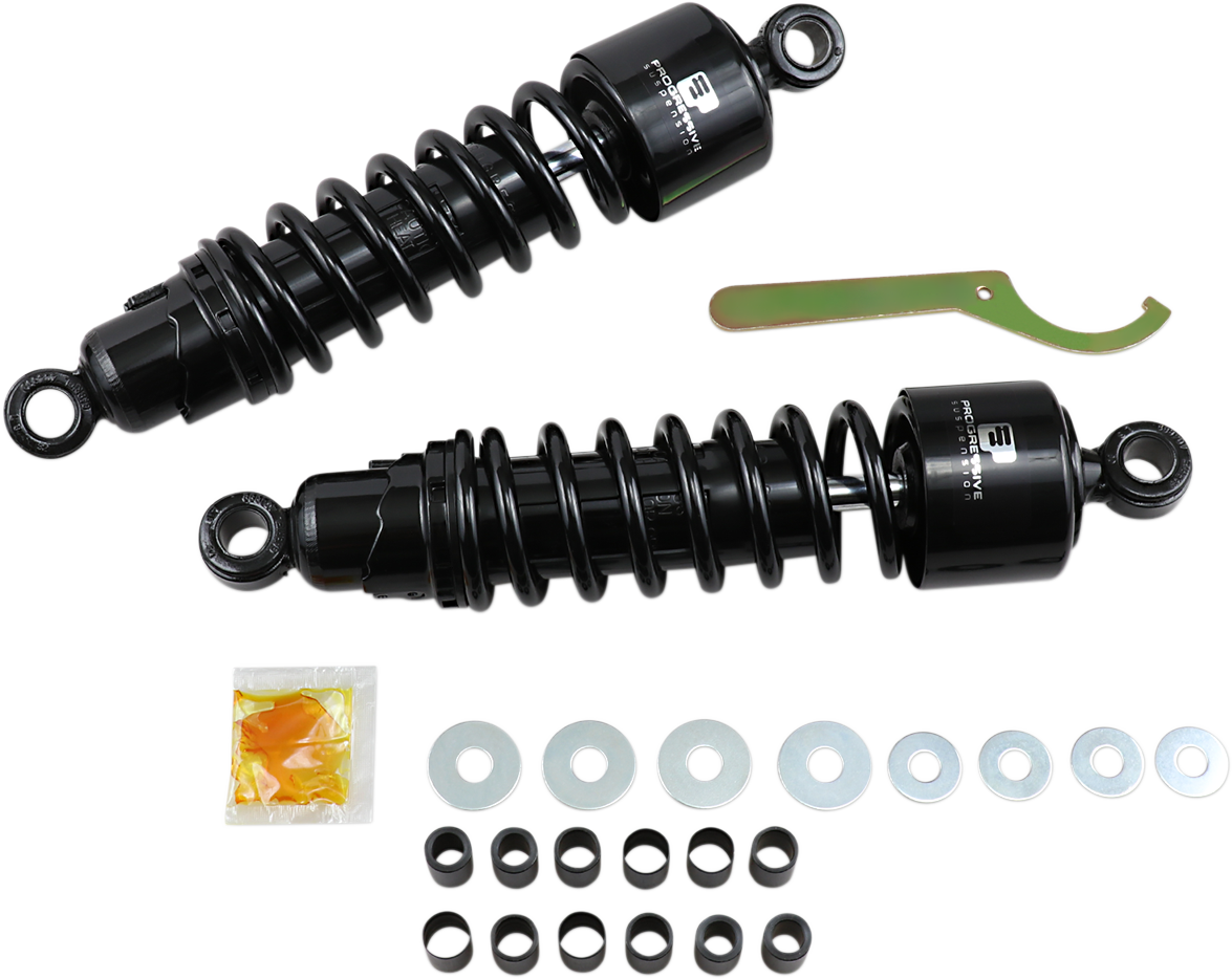 "Progressive 412 Black Heavy Duty 12"" Rear Shocks for 15-17 Harley Street XG"