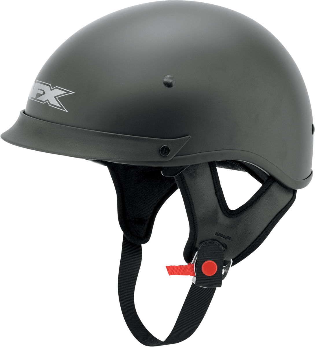 AFX FX72 Flat Large Black Motorcycle Riding Half Helmet & Visor