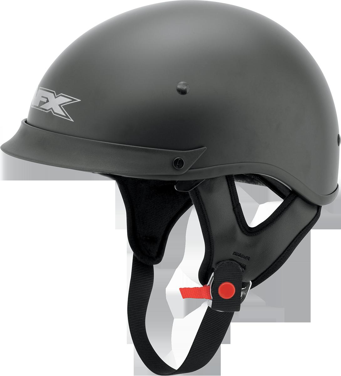 AFX FX72 Flat Large Black Motorcycle Riding Half Helmet & Visor