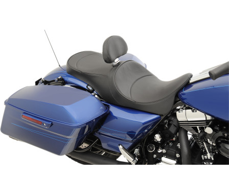 LOW-PROFILE TOURING SEATS WITH FORWARD-POSITIONING AND EZ GLIDE II BACKREST OPTION-
