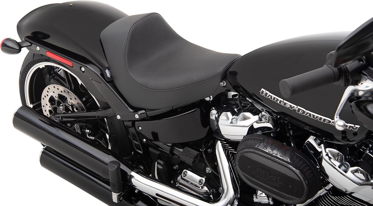 Drag Specialties EZ Mount Vinyl Motorcycle Solo Seat 18-20 Harley Softail FXBR