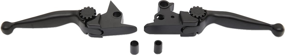 PSR Black Adjustable Journey Handlebar Lever Set for 15-17 Harley Softail FLS