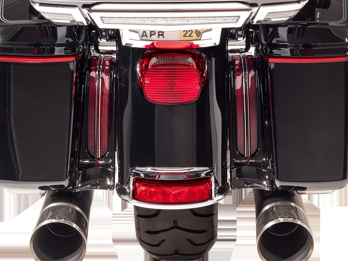 Ciro Black Rear LED Filler Panel Lights 14-20 Harley Touring FLHR FLHTK FLTRU