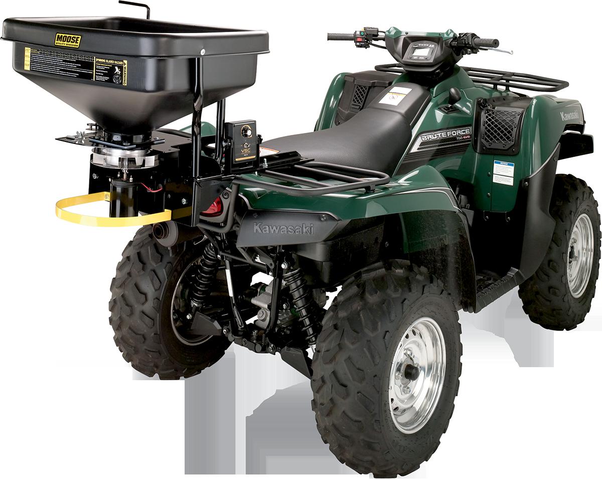 Moose utility Black Polyethylene Universal ATV Dry Material Rear Spreader Kit
