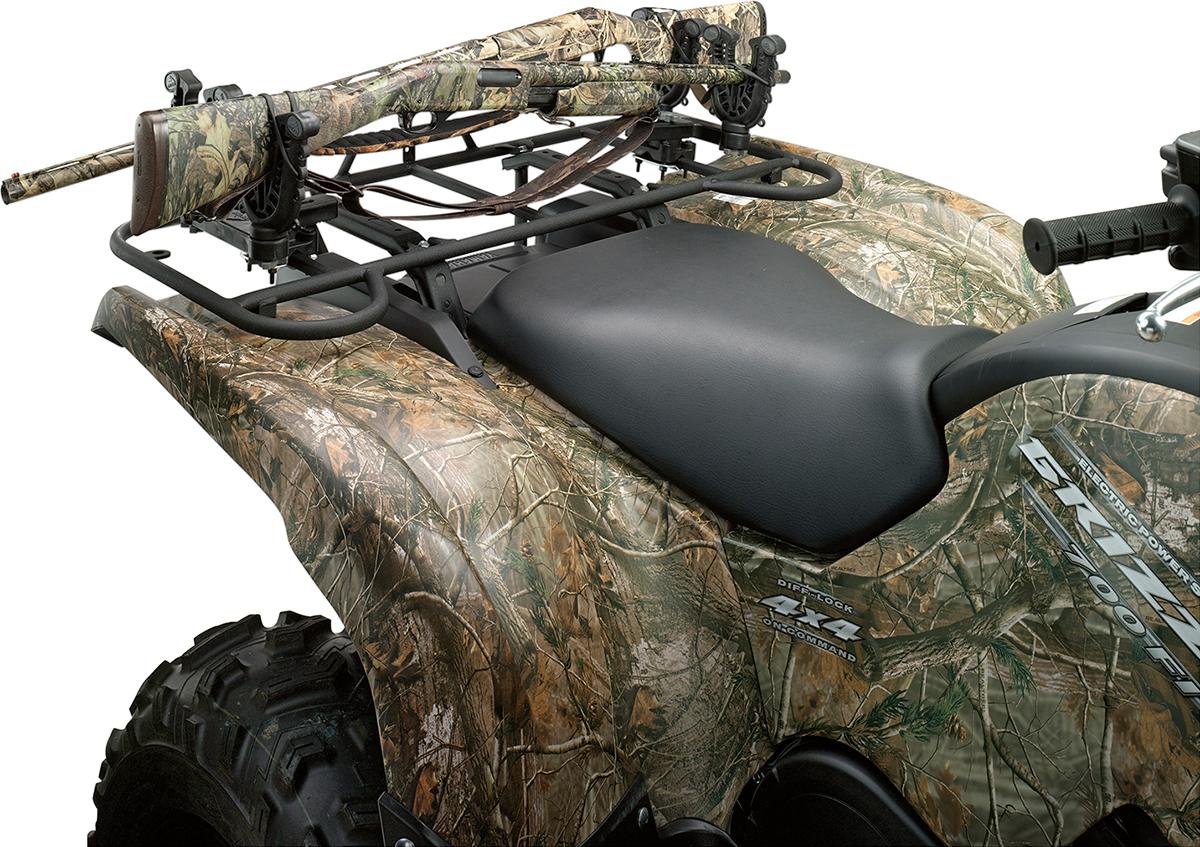 Moose Utility Division Black ATV Flexgrip Universal Double Gun Rifle Rack Holder