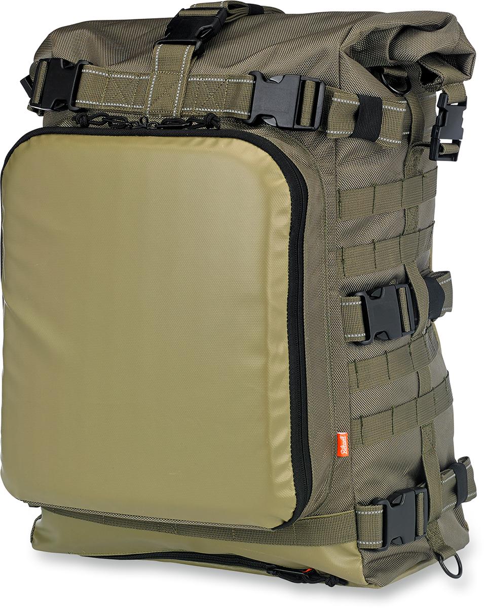 Biltwell Textile Green Exfil-80 Rear Motorcycle Rack Bag for Harley Davidson
