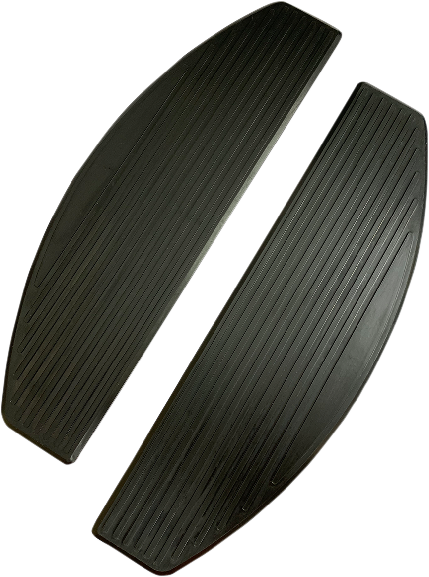 Drag Specialties Black Rubber Floorboard Pads for 18-19 Harley Softail FLHC FLSL