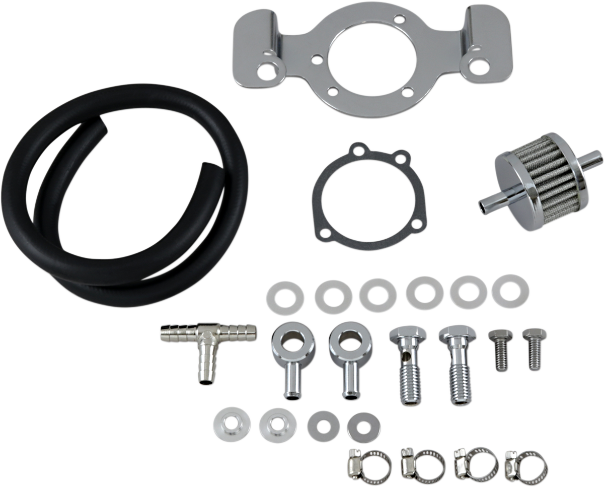Drag Specialties Chrome Crankcase Breather Kit for 91-06 Harley Sportster XL XLH