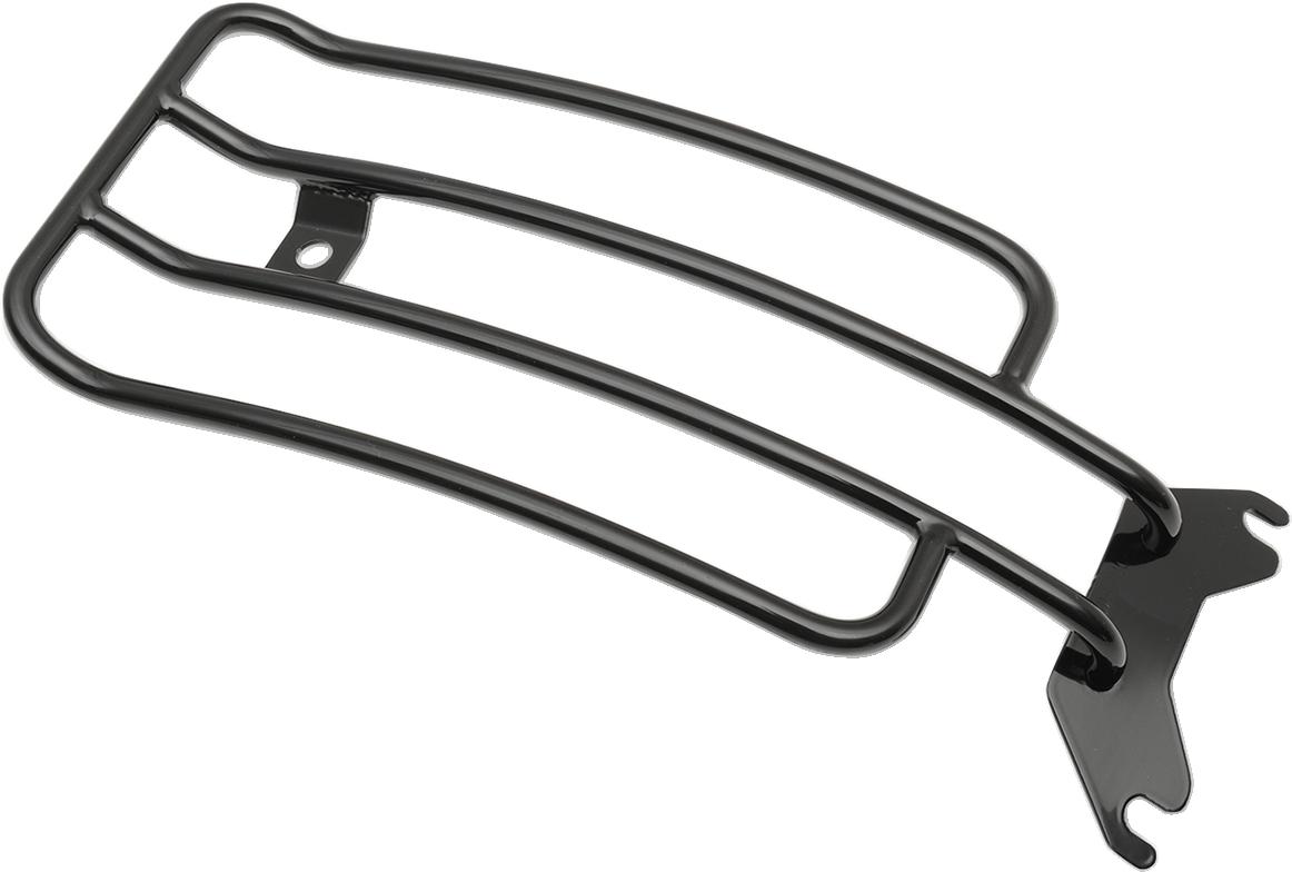 "Motherwell 6"" Black Solo Luggage Rack for 97-17 Harley Softail FLSTS/I FLSTSC/I"