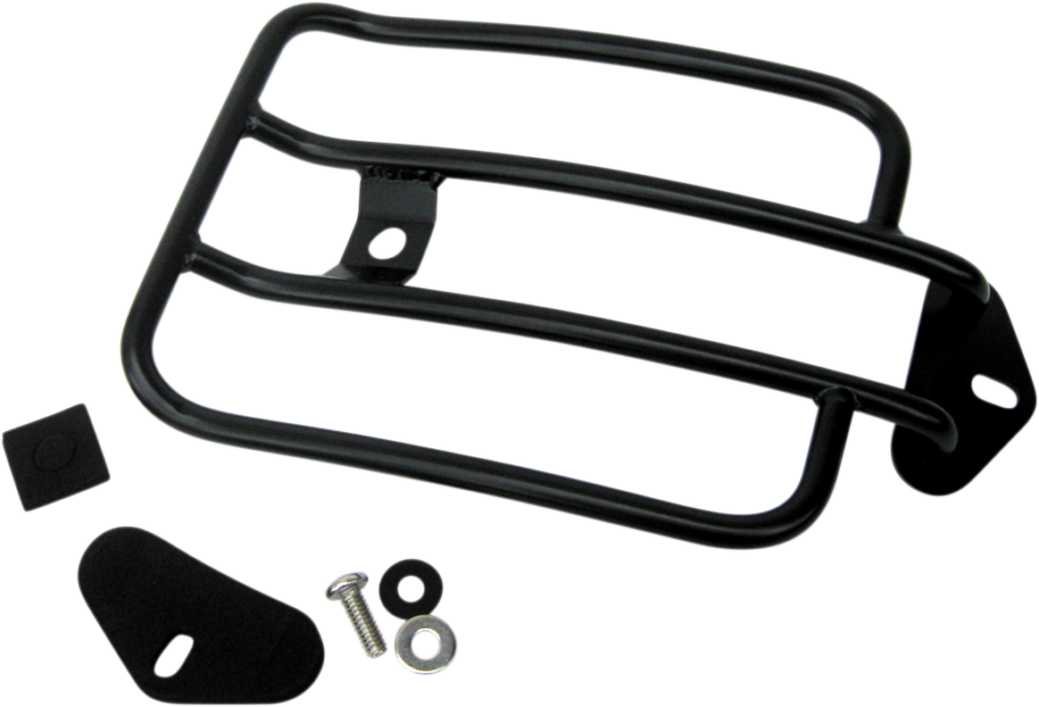 "Motherwell Gloss Black 6"" Rear Fender Luggage Rack for 16-17 Harley Dyna FXDLS"