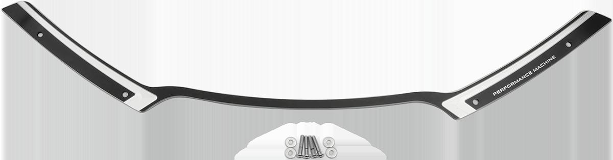 Performance Machine Black Chrome Scallop Fairing Trim 15-19 Harley FLTRX