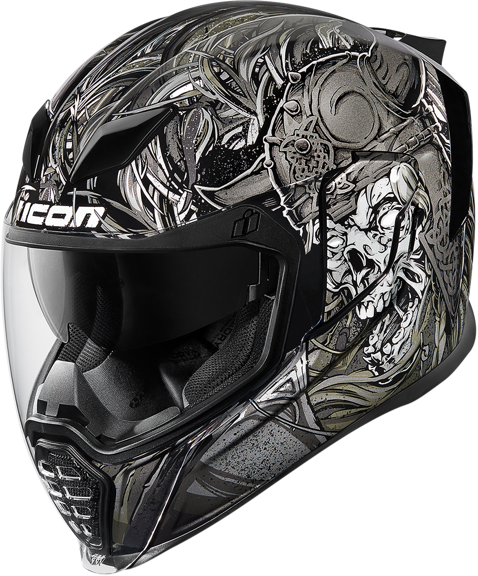 Icon Unisex Krom Airflite Full Face Gloss Motorcycle Riding Street Racing Helmet