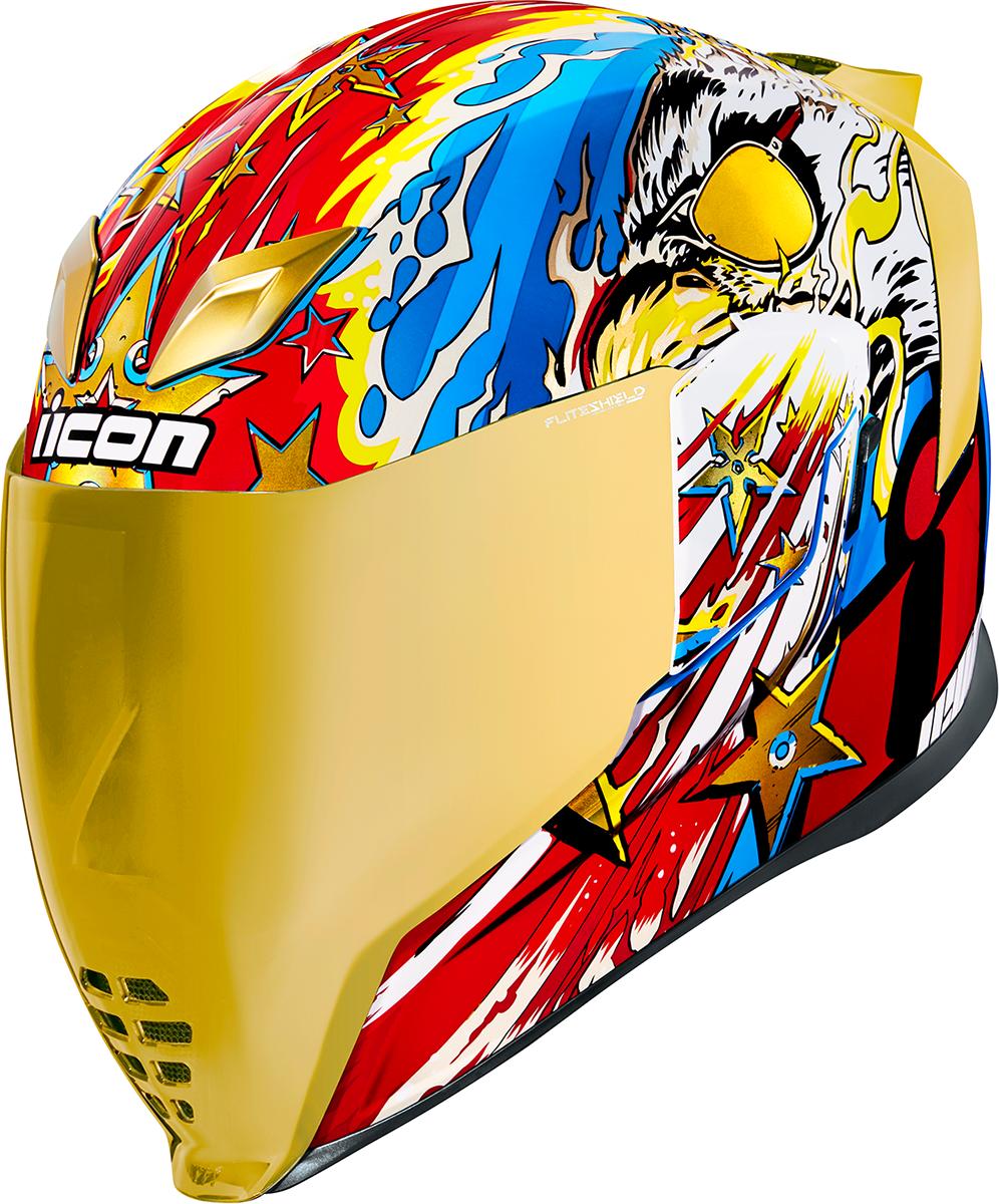 Icon Airflite Freedom Spitter Fullface Motorcycle Riding Street Racing Helmet