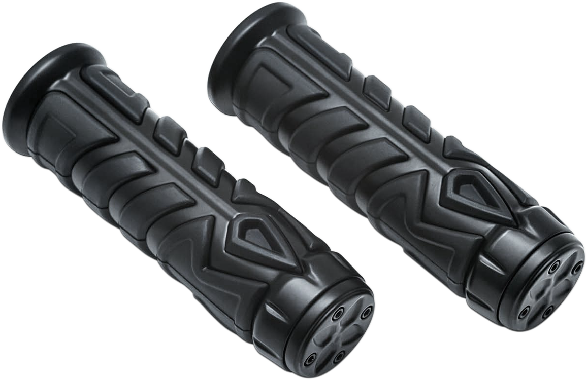 "Kuryakyn 5637 Black Spear 7/8"" Motorcycle Grips 14-17 Indian Chief Roadmaster"