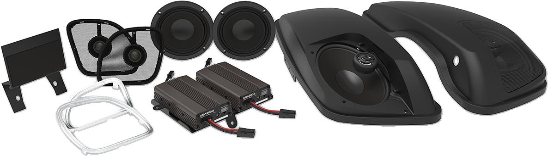 Wild Boar Big Pig Front & Rear Speaker Amp Kit for 15-18 Harley Road Glide FLTRX