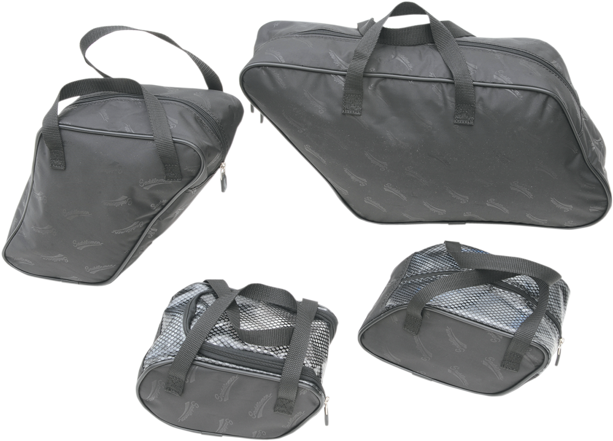 Saddlemen Black 4 Pack Saddlebag Liners for 12-16 Harley Dyna Switchback FLD