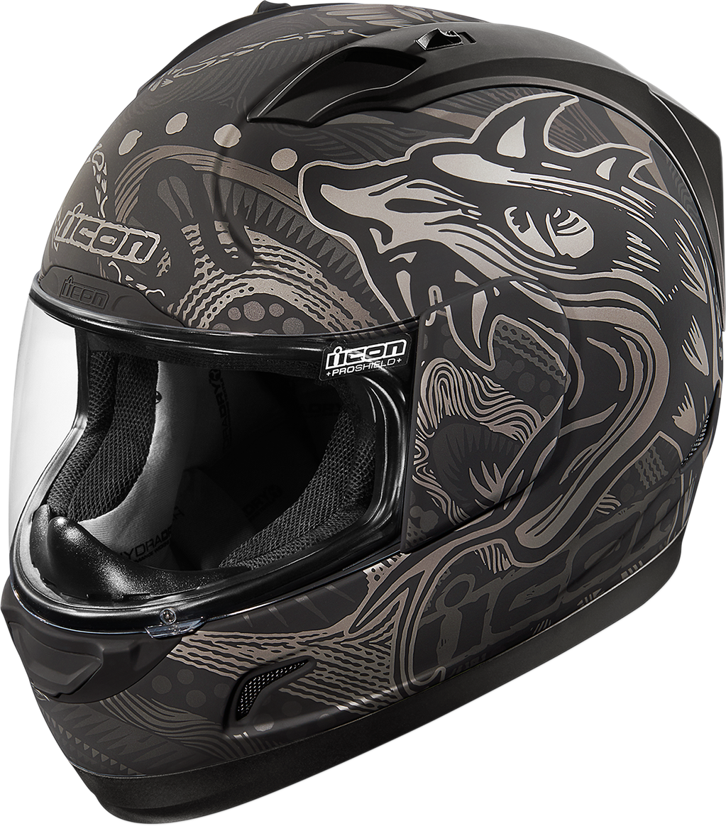 Icon Black Alliance Oro Boros Motorcycle Riding Street Full Face Helmet CLOSEOUT