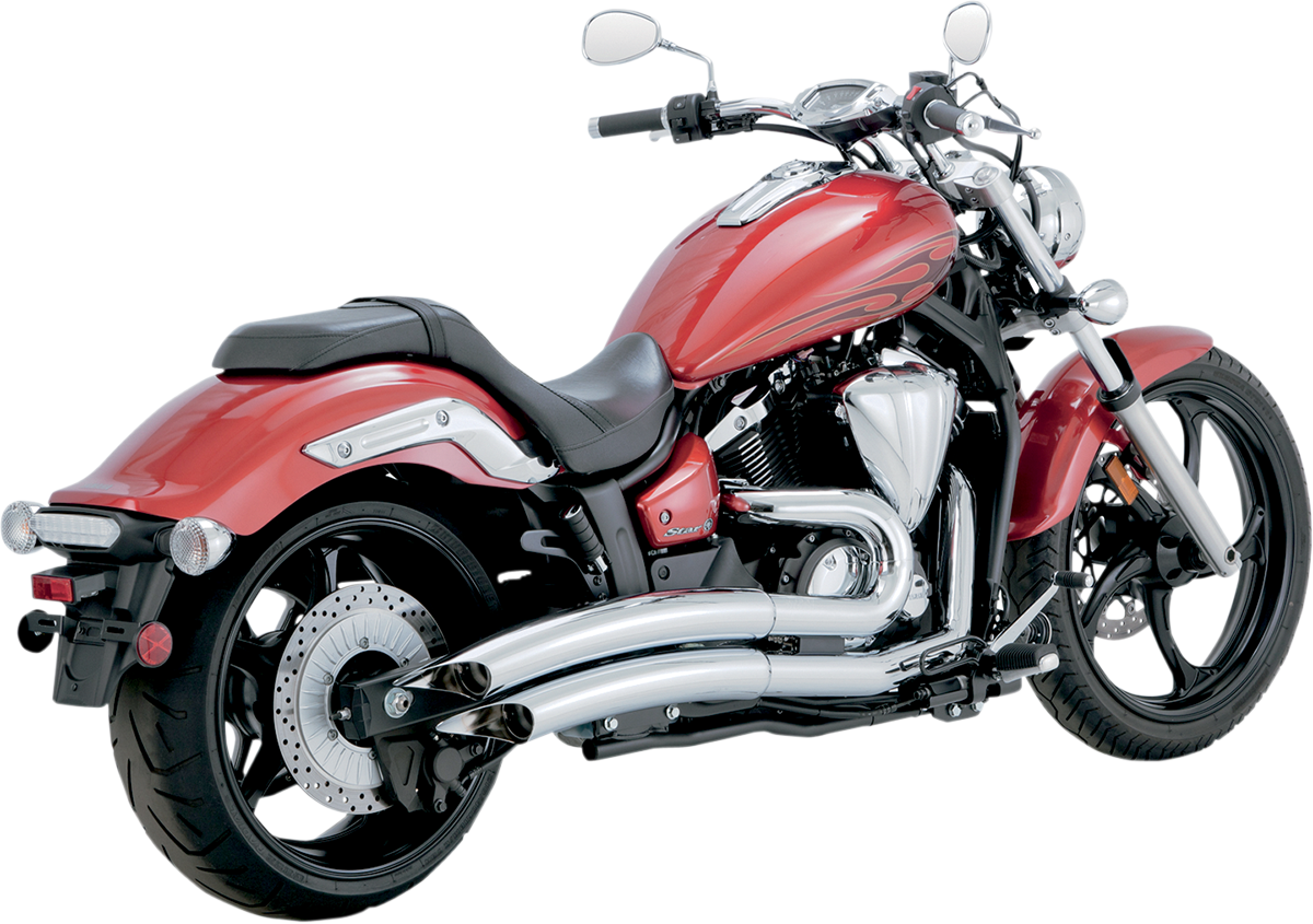 Vance & Hines Chrome 2-2 Chrome Big Radius Exhaust for 11-17 Yamaha XVS 1300