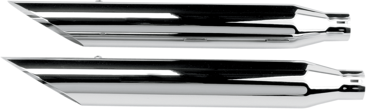Khrome Werks HP-Plus Chrome Slip on Mufflers for 07-17 Harley Softail FXCW FXSB