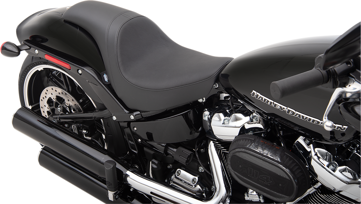 Drag Specialties Predator Smooth Vinyl Motorcycle 2-Up Seat 18-20 Harley Softail