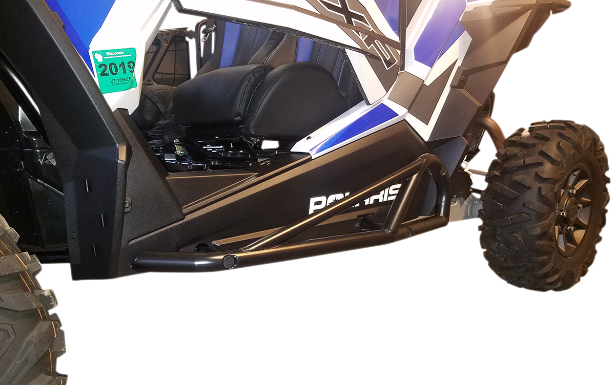 Moose Racing Black UTV Side By Side Nerf Bars for 15-18 Polaris RZR XP 900 1000